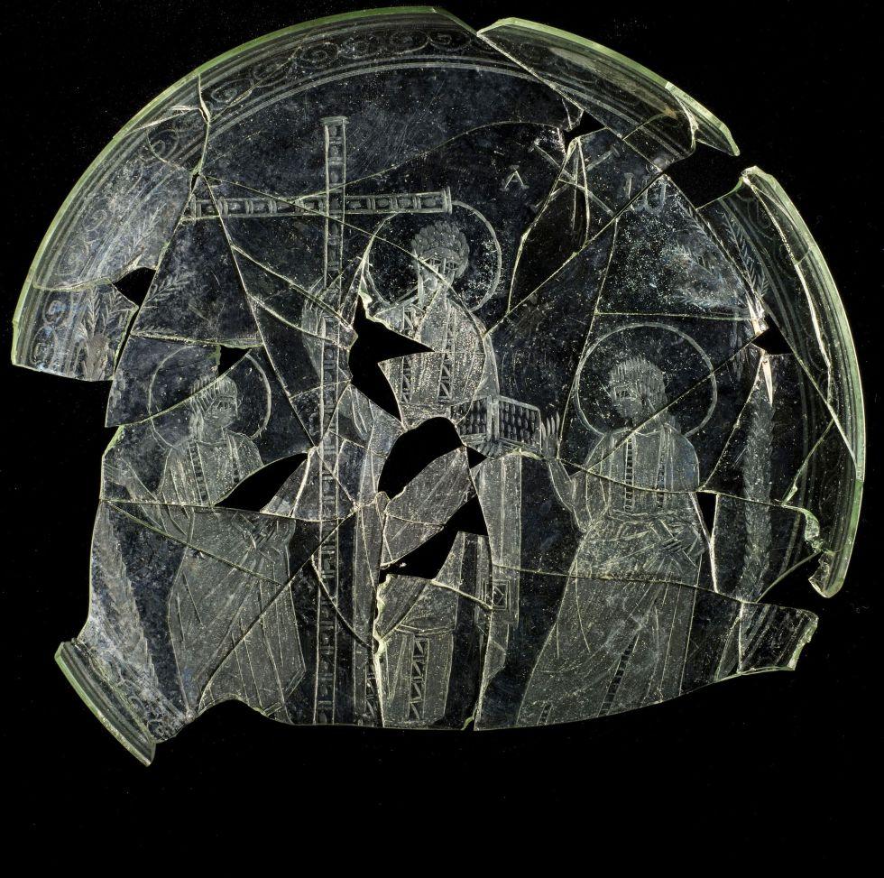 Le CHrist sur une patène du IVè siècle
