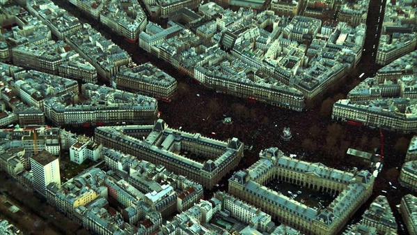 Paris , capitale du monde ce 11 janvier